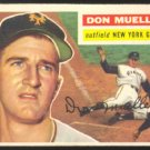 NEW YORK GIANTS DON MUELLER 1956 TOPPS # 241 VG/EX