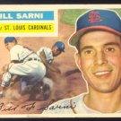 ST LOUIS CARDINALS BILL SARNI 1956 TOPPS # 247 VG