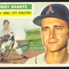 KANSAS CITY ATHLETICS BOBBY SHANTZ 1956 TOPPS #261 VG/E