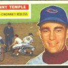 CINCINNATI REDLEGS JOHNNY TEMPLE 1956 TOPPS # 212 EX/EM