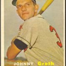 KANSAS CITY ATHLETICS JOHNNY GROTH 1957 TOPPS # 360 EX