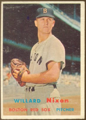 BOSTON RED SOX WILLARD NIXON 1957 TOPPS # 189 VG
