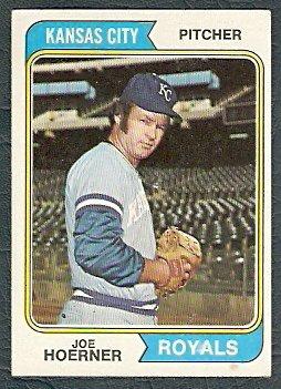 KANSAS CITY ROYALS JOE HOERNER 1974 TOPPS # 493 EX