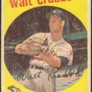 KANSAS CITY ATHLETICS WALT CRADDOCK 1959 TOPPS # 281 F