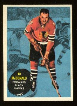 CHICAGO BLACK HAWKS AB McDONALD 61/62 TOPPS # 27