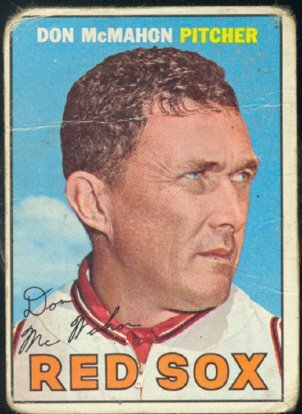 BOSTON RED SOX DON McMAHON 1967 TOPPS # 7 fair