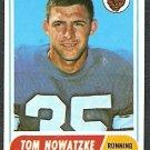DETROIT LIONS TOM NOWATZKE 1968 TOPPS # 78 EX