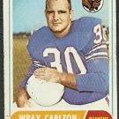 BUFFALO BILLS WRAY CARLTON 1968 TOPPS # 97 G