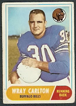 BUFFALO BILLS WRAY CARLTON 1968 TOPPS # 97 G