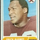CLEVELAND BROWNS ERICH BARNES 1968 TOPPS # 102 F/G