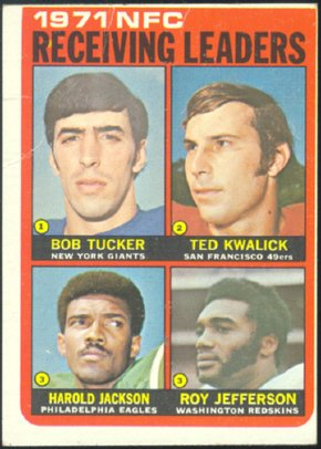 71 NFC RECEIVING LDRS 1972 TOPPS # 6 VG GIANTS SKINS NINERS EAGLES