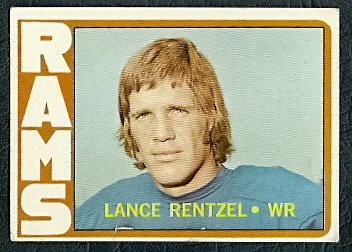 LOS ANGELES RAMS LANCE RENTZELL 1972 TOPPS # 81 G