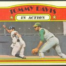 OAKLAND ATHLETICS TOMMY DAVIS I/A 1972 TOPPS # 42 VG/EX