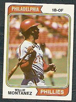 PHILADELPHIA PHILLIES WILLIE MONTANEZ 1974 TOPPS # 515 EX