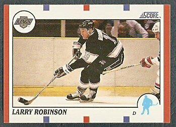LOS ANGELES KINGS LARRY ROBINSON 90/91 SCORE # 260