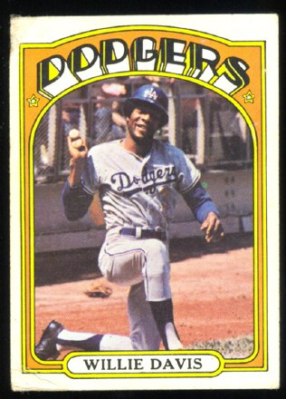 LOS ANGELES DODGERS WILLIE DAVIS 1972 TOPPS # 390 G