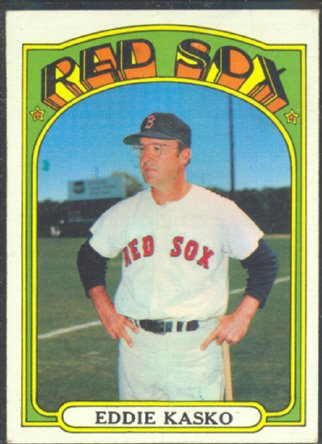BOSTON RED SOX EDDIE KASKO 1972 TOPPS # 218 VG