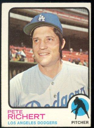 LOS ANGELES DODGERS PETE RICHERT 1973 TOPPS # 239 EX OC