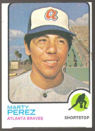 ATLANTA BRAVES MARTY PEREZ 1973 TOPPS # 144 EX MT SMC