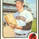 SAN FRANCISCO GIANTS JIM BARR 1973 TOPPS # 387 VG/EX
