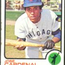 CHICAGO CUBS JOSE CARDENAL 1973 TOPPS # 393 EX OC