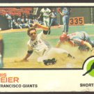 SAN FRANCISCO GIANTS CHRIS SPEIER 1973 TOPPS # 273 G/VG