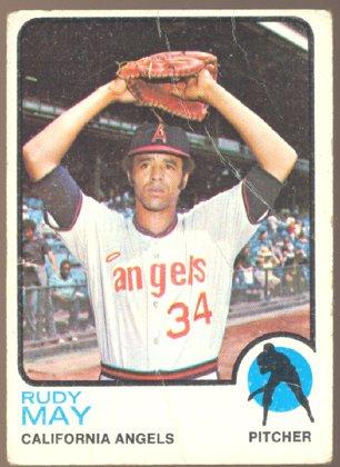 CALIFORNIA ANGELS RUDY MAY 1973 TOPPS # 102 G