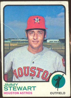 HOUSTON ASTROS JIMMY STEWART 1973 TOPPS # 351 G/VG