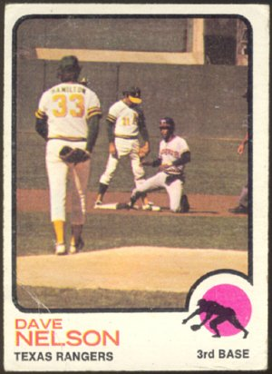 TEXAS RANGERS DAVE NELSON 1973 TOPPS # 111 G/VG