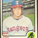 TEXAS RANGERS TOBY HARRAH 1973 TOPPS # 216 G/VG