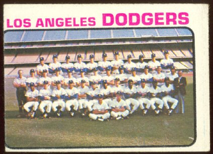 LOS ANGELES DODGERS TEAM CARD 1973 TOPPS # 91 VG/EX MC