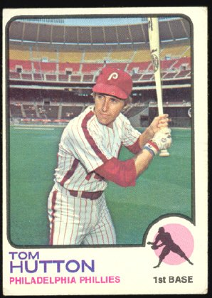 Philadelphia Phillies Tom Hutton 1973 Topps Baseball Card 271 vg/ex