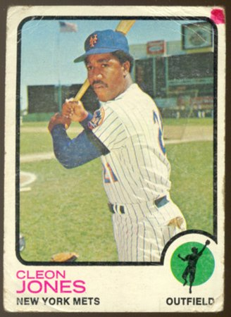 New York Mets Cleon Jones 1973 Topps Baseball Card 540 fair/good