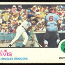 LOS ANGELES DODGERS WILLIE DAVIS 1973 TOPPS # 35 G/VG