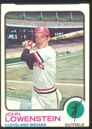 Cleveland Indians John Lowenstein 1973 Topps # 327 vg smc