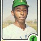 Oakland Athletics Bill North 1973 Topps Baseball Card 234 ex