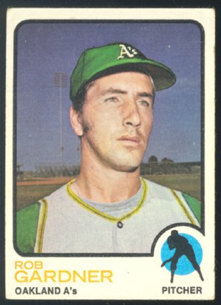 Oakland Athletics Rob Gardner 1973 Topps Baseball Card 222 vg