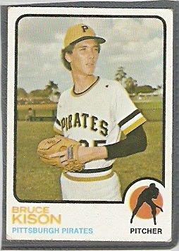 Pittsburgh Pirates Bruce Kison 1973 Topps Baseball Card 141 vg/ex