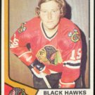 CHICAGO BLACK HAWKS DICK REDMOND 74/75 TOPPS # 186 EX