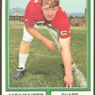 ATLANTA FALCONS ANDY MAURIER 1974 TOPPS # 212 VG/EX