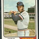 CLEVELAND INDIANS CHARLIE SPIKES 1974 TOPPS # 58 VG