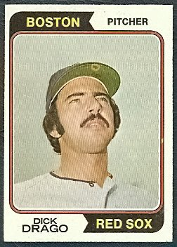 BOSTON RED SOX DICK DRAGO 1974 TOPPS # 113 VG/EX