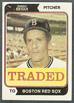 BOSTON RED SOX DIEGO SEGUI 1974 TOPPS # 151T EX