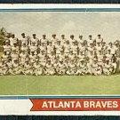 ATLANTA BRAVES TEAM CARD 1974 TOPPS # 483 F/G