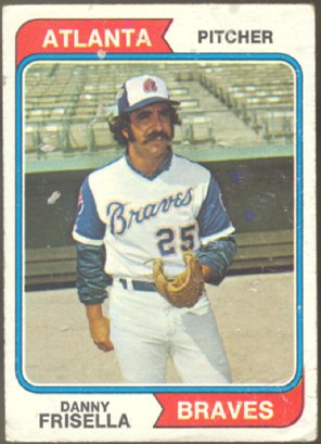 ATLANTA BRAVES DANNY FRISELLA 1974 TOPPS # 71 G