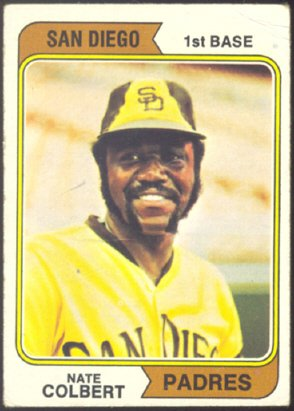 SAN DIEGO PADRES NATE COLBERT 1974 TOPPS # 125 G/VG