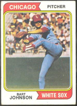 CHICAGO WHITE SOX BART JOHNSON 1974 TOPPS # 147 VG+