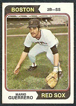 BOSTON RED SOX MARIO GUERRERO 1974 TOPPS # 192 VG