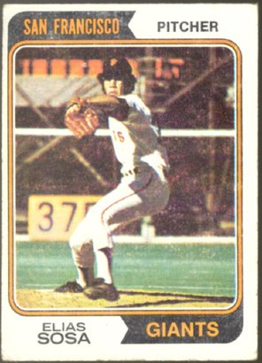 SAN FRANCISCO GIANTS ELIAS SOSA 1974 TOPPS # 54 VG/EX