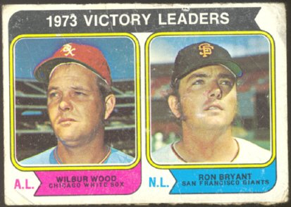 WHITE SOX WOOD GIANTS BRYANT VICTORY LDRS 1974 TOPPS # 205 G